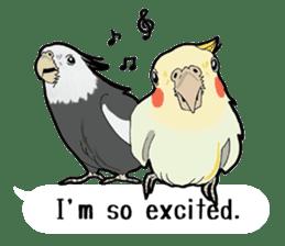 Whimsical Cockatiel sticker #5161857