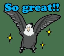 Whimsical Cockatiel sticker #5161860