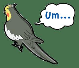 Whimsical Cockatiel sticker #5161862