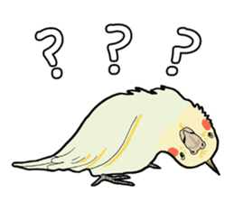 Whimsical Cockatiel sticker #5161863