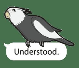 Whimsical Cockatiel sticker #5161864
