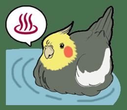 Whimsical Cockatiel sticker #5161866