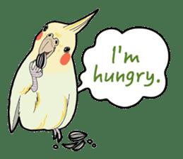 Whimsical Cockatiel sticker #5161867