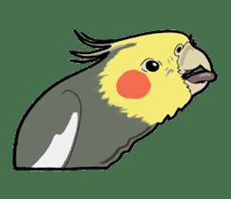 Whimsical Cockatiel sticker #5161868
