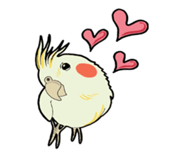 Whimsical Cockatiel sticker #5161869