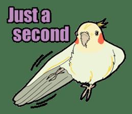 Whimsical Cockatiel sticker #5161875