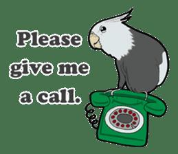Whimsical Cockatiel sticker #5161876