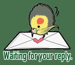 Whimsical Cockatiel sticker #5161877