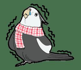 Whimsical Cockatiel sticker #5161883