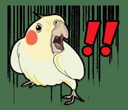 Whimsical Cockatiel sticker #5161884