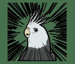 Whimsical Cockatiel sticker #5161885