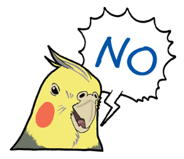 Whimsical Cockatiel sticker #5161888
