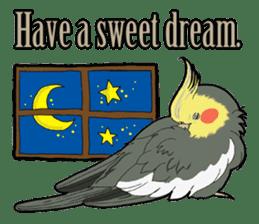 Whimsical Cockatiel sticker #5161890