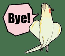 Whimsical Cockatiel sticker #5161891