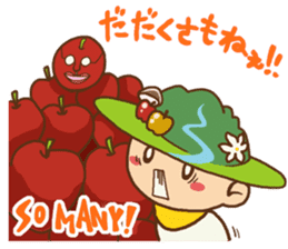 Iida dialects of Dan-Q-Kun sticker #5162564