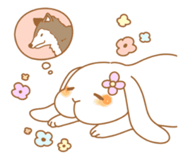 wolf&rabbit sticker #5170795