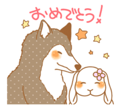 wolf&rabbit sticker #5170800