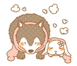wolf&rabbit sticker #5170802