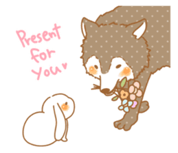 wolf&rabbit sticker #5170805
