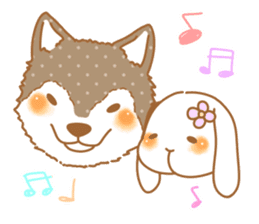 wolf&rabbit sticker #5170811