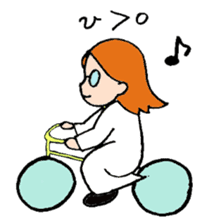 She is a science girl. sticker #5171504