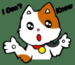 Mike the Tri-Color Cat sticker #5173270