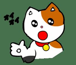 Mike the Tri-Color Cat sticker #5173284