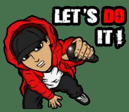 JEY-J (The Hip-Hop Artist) English ver. sticker #5183796
