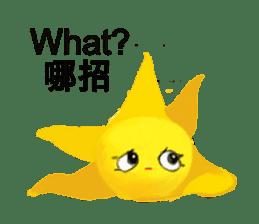 Happy star is running around world 2 sticker #5190094