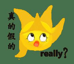 Happy star is running around world 2 sticker #5190127