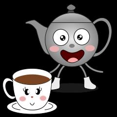 Teapot and tea cup