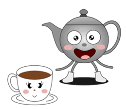 Teapot and tea cup sticker #5196684