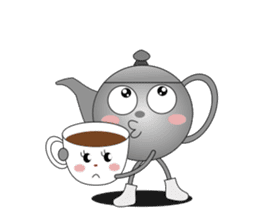 Teapot and tea cup sticker #5196694