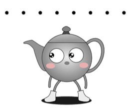 Teapot and tea cup sticker #5196718