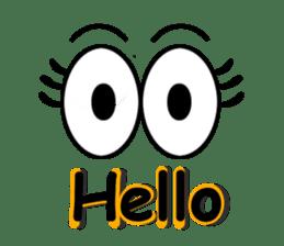 Eyes message sticker #5197966