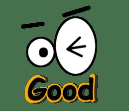 Eyes message sticker #5197969