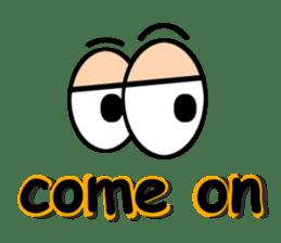 Eyes message sticker #5197976