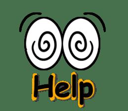Eyes message sticker #5197987