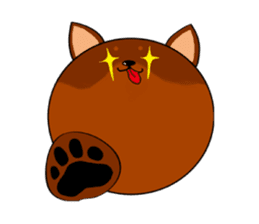 Round face Miniature Pinscher sticker #5210192