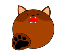 Round face Miniature Pinscher sticker #5210197