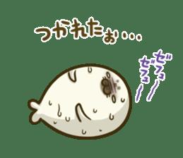 Cute Baby Harbor seal 2!! sticker #5211908