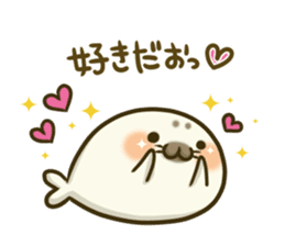 Cute Baby Harbor seal 2!! sticker #5211916