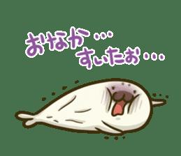 Cute Baby Harbor seal 2!! sticker #5211920