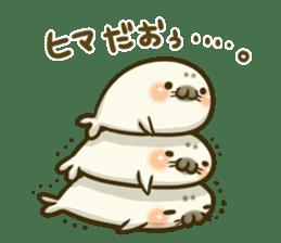 Cute Baby Harbor seal 2!! sticker #5211923