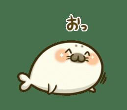 Cute Baby Harbor seal 2!! sticker #5211924