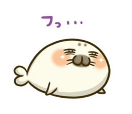 Cute Baby Harbor seal 2!! sticker #5211935