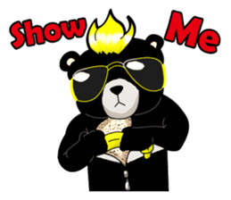 Formosan black bear boss sticker #5217764