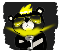 Formosan black bear boss sticker #5217772