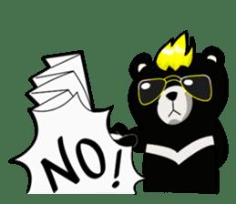 Formosan black bear boss sticker #5217778