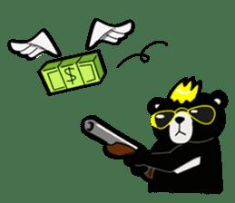 Formosan black bear boss sticker #5217779